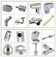 stainless steel casting 40x50 glass clamp for railing system fitting