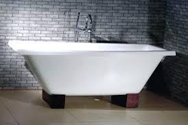 enameled cast iron bathtubs furniture white cast iron corner bathtub design with wooden base and exposed enameled cast iron bathtubs