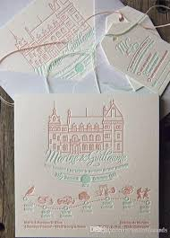 wedding invitation letterpress wedding invitation elegant custom design letterpressed wedding invite in mint peach in 2016 indian wedding invitation