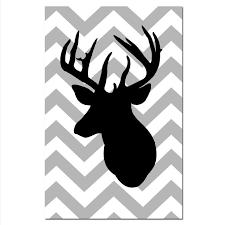Silhouette Patterns Enchanting Beautiful Reindeer Silhouette Template Free Deer Head Patterns Deer