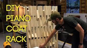 Make A Coat Rack BUILD Pianostyle Wooden Coat Rack YouTube 46