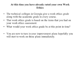 what are your work ethics co what