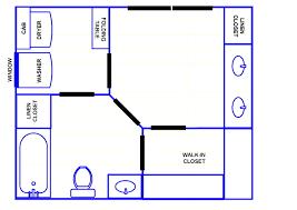 Design A Bathroom Floor Plan Master Bathroom With Closet Floor Plans Latest Home Decor Together