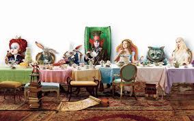 Dining Room Alice In Wonderland Dining Room Decor Color Ideas