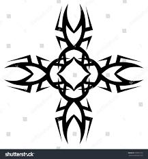 Cross Art Design Tribal Tattoo Design Vector Sketch Art Stock Vector Royalty