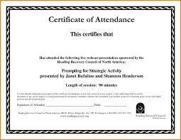 Attendance Certificate Template Certificate Template In Doc New Copy Attendance Certificate Template 3