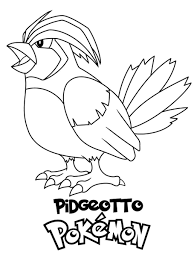 Pikachu, eevee, charizard, chamelon … Pokemon Pidgeotto Coloring Pages Free Downloads Free Pokemon Coloring Pages