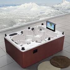 0utdoor hot tubs 6 person spa with tv