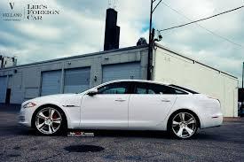 jaguar xjl white vellano wheels tuning