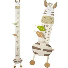 Im Wood And Fabric Wall Growth Chart Height Measurement Scale Ruler For Kids Horse