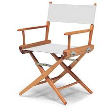outdoor director chair. World Famous Dining Height Director Chair By Telescope Casual - Varnish/White : Ultimate Patio Outdoor R