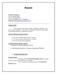 Resume For Radio Jockey Free Printable Invoice Templates For