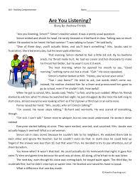 Third Grade Reading Comprehension Worksheets | Have Fun Teaching