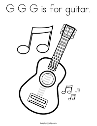Browse your favorite printable guitar coloring pages category to color and print and make your own guitar coloring book. G G G Is For Guitar Coloring Page Twisty Noodle