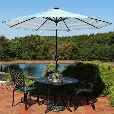 Umbrella Lights Walmart Sunnydaze 9 Foot Outdoor Patio Umbrella With Solar Lights Tilt Crank Led Red Stripe