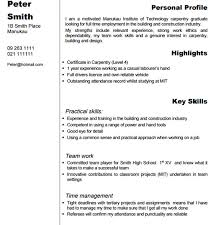 Carpenter Resume 1 Techtrontechnologies Com