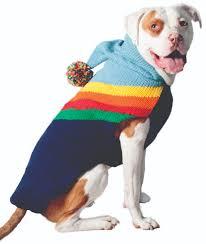 Rainbow Hoodie Wool Dog Sweater