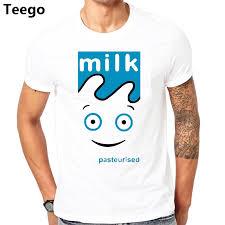 Blur Milk Coffee And Tv T Shirt Cd Lp Vinyl Poster T Shirts New Tee Shirt Mens 2017 New T Shirts Printing Punk Tops