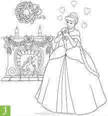 Tranh tô màu công chúa lọ lem cho bé - Jadiny