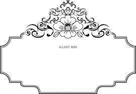 無料イラスト 花フレーム椿枠飾り背景壁紙和風和柄イラストシンプル