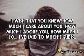 I Care About You Quotes Interesting I Wish That You Knew How Much I Care About You Ho QuotePix