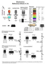 schematic symbols chart wiring diargram schematic symbols from hobbyist electronics akafugu jp microcontroller electronics reference cheat sheets