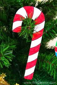 Paper Candy Cane Decorations Yarn Wrapped Candy Cane Christmas Ornament Christmas ornament 2