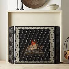 Unique fireplace screens Covers Corbett 3panel Bronze Fireplace Screen Crate And Barrel Decorative Fireplace Screens Crate And Barrel