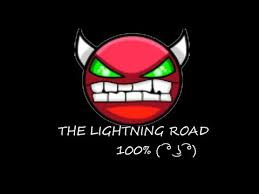 the lightning road % ll geometry dash ep  the lightning road 100% ll geometry dash ep 4