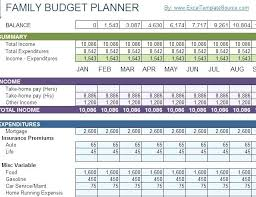 Monthly Budget Template Household Excel Spreadsheet Download ...
