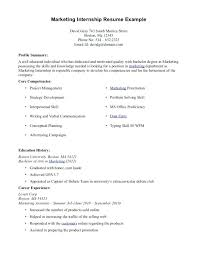 How To Write Internship In Resume University Student Resume Example