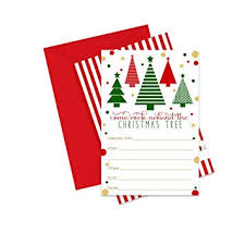 Christmas Inviations Amazon Com Rock Around Holiday Party Invitations Pack Of