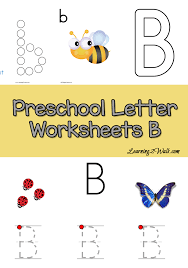 Free Preschool Letter B Worksheets - Learning 2 Walk | Preschool ...
