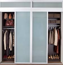 his and hers sliding glass closet doors