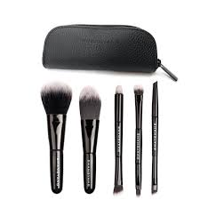 travel makeup brushes. 5 mini travel makeup brush set with pouch [shop 4 colors] brushes