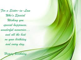 Sister In Law Birthday Verses Card Verses Greetings And Wishes