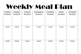 monthly meal planner template printable weekly meal plan template homeschool base