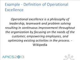 Operational Excellence Example A New Perspective On Operational Excellence