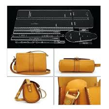 acrylic template pattern for lovely shoulder bag soft leather craft simple style stencil patterns free bag patterns design leather