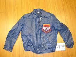 vintage western ontario univ cafe racer leather letterman jacket