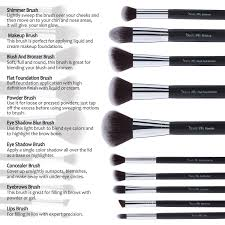amazon beauty lally professional make up brush set synthetic hair giving you full coverage for everyday use soft no shed at all case and mirror