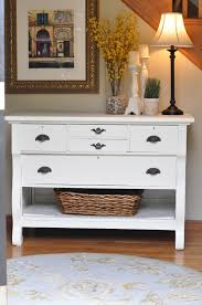 entrance way tables. Paint A Dresser; Take Out Bottom Drawer, Add Baskets And There Is An Awesome Accent Table!aint Entrance Way Tables