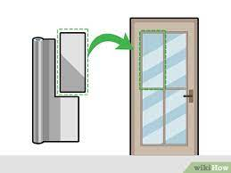 3 ways to cover a glass door for