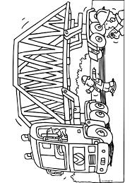 Kleurplaat Vrachtwagen Met Grote Brug Kleurplatennl