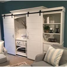 barn door wall unit vine white
