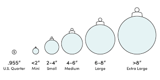 Ornament Size Chart Peacock Design Glass Finial Christmas Ornament