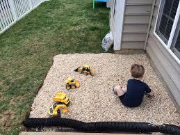 sandbox ideas drainage gravel pit