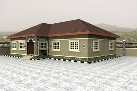 Small Picture Stunning 4 Bedroom Bungalow Floor Plans In Nigeria First Bungalow