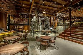 starbucks reserve roastery and tasting room ors can watch  spacious a new starbucks flagship cafe in seattle washington is the biggest in