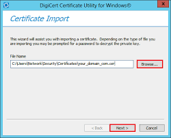 Ssl Installation In Windows Servers With Digicert Certificate Utility